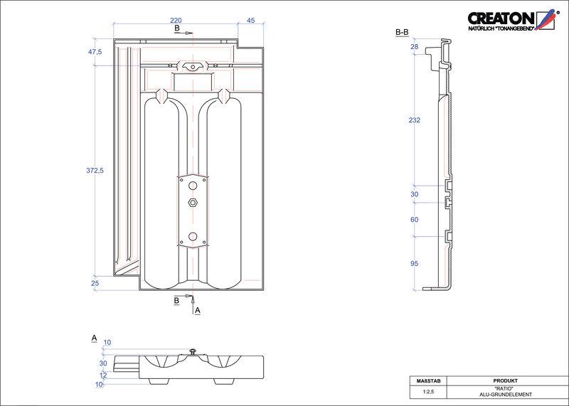 CAD datoteka izdelka RATIO osnova, aluminij GRUNDALU