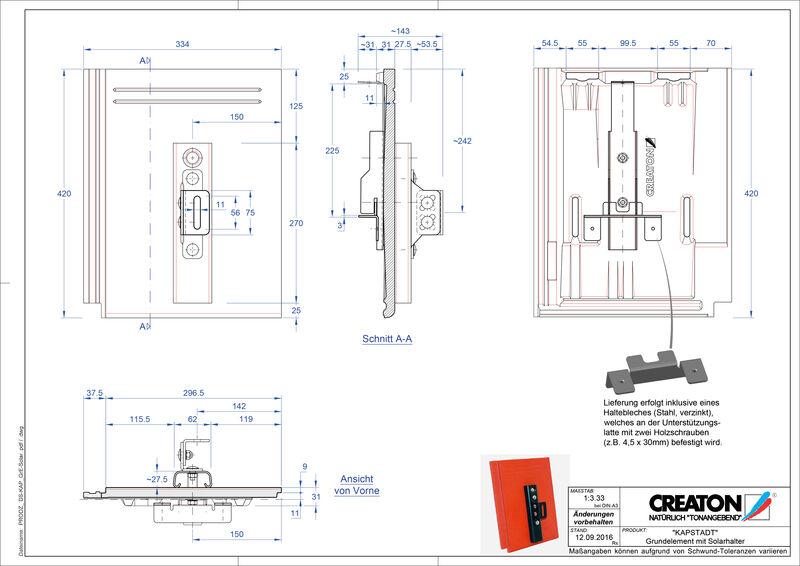 CAD datoteka izdelka KAPSTADT osnovni element Solar
