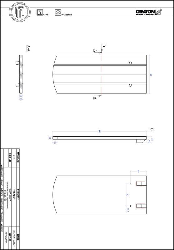 CAD datoteka izdelka PROFIL segmentna oblika KERA-SAECHS-15-CM-1-1