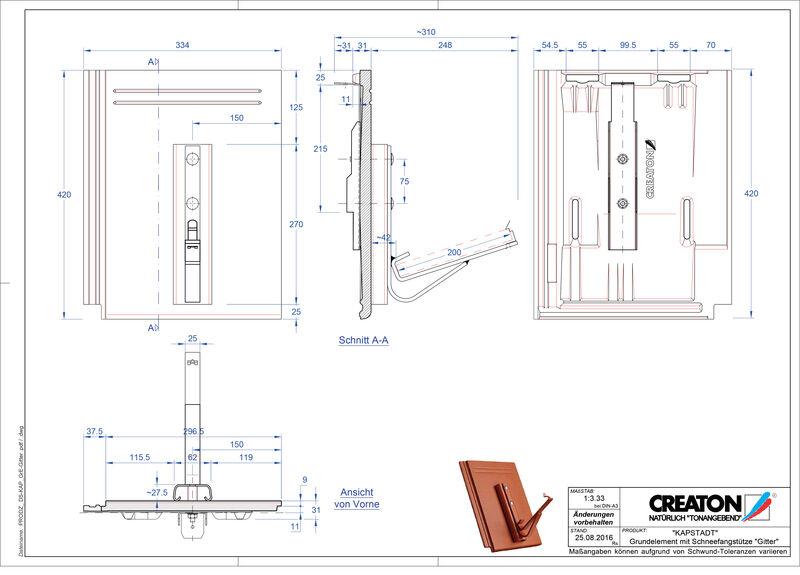 CAD datoteka izdelka KAPSTADT osnovni element Gitter