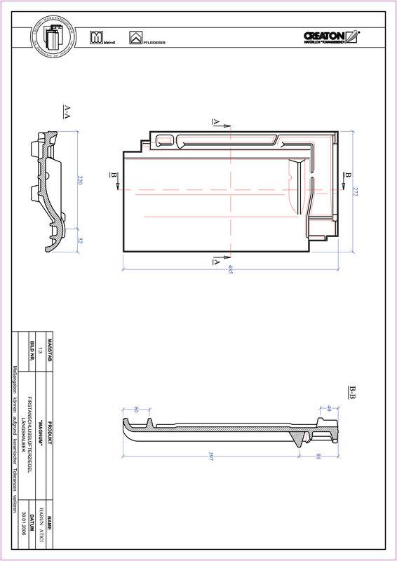 CAD datoteka izdelka MAGNUM slemenski priključni zračnik dvovalovnik FALLH