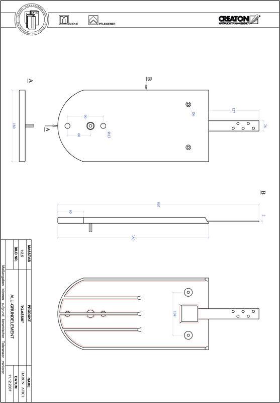 CAD datoteka izdelka KAPSTADT okrogla oblika RUND-GRUNDALU
