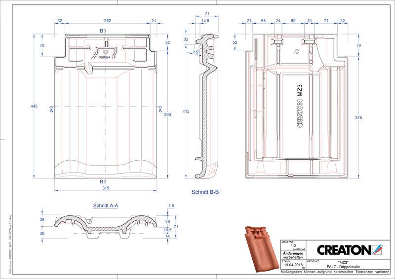 CAD datoteka izdelka MZ3 NEU slemenski priključni zračnik dvovalovnik FALDWZ