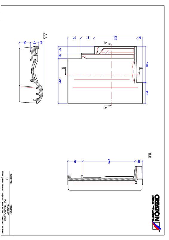 CAD datoteka izdelka SINFONIE strešnik za enokapno streho PULT