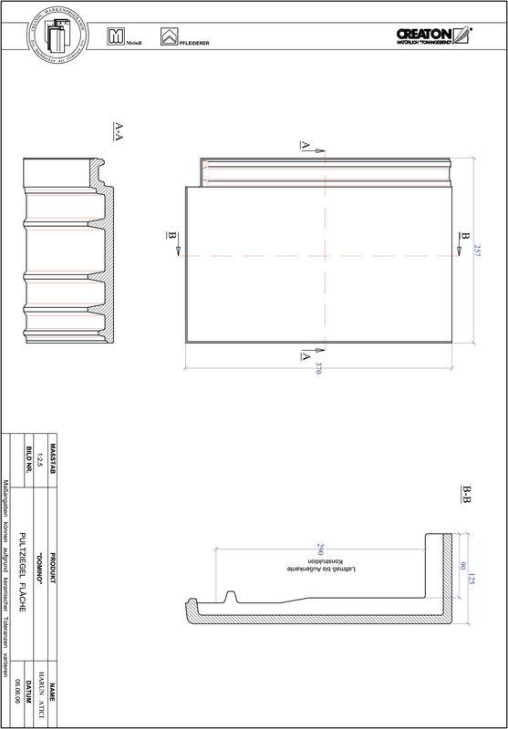 CAD datoteka izdelka DOMINO  strešnik za enokapno streho, PULTFLA