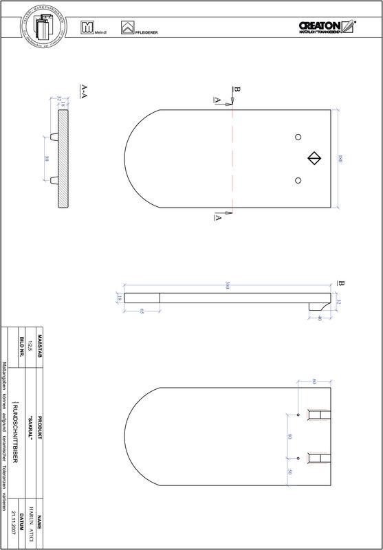 CAD datoteka izdelka SAKRAL okrogla oblika RUND-1-1