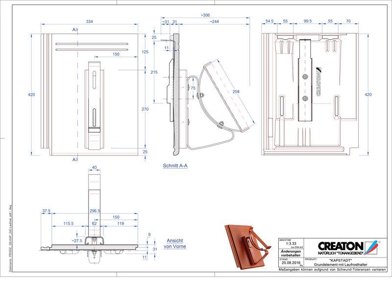 CAD datoteka izdelka KAPSTADT osnovni element Laufrost