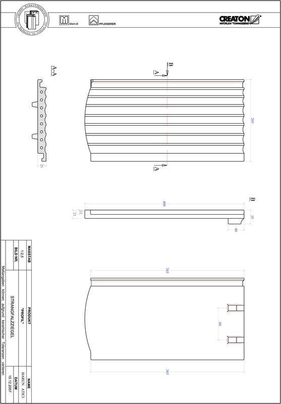 CAD datoteka izdelka PROFIL segmentna oblika STRANGFALZ-GEWELLT-1-1