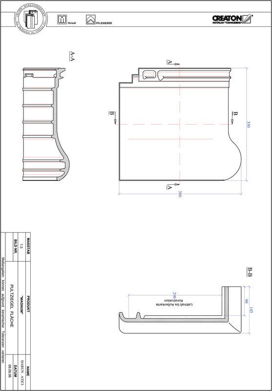 CAD datoteka izdelka MAGNUM strešnik za enokapno streho PULTFLA