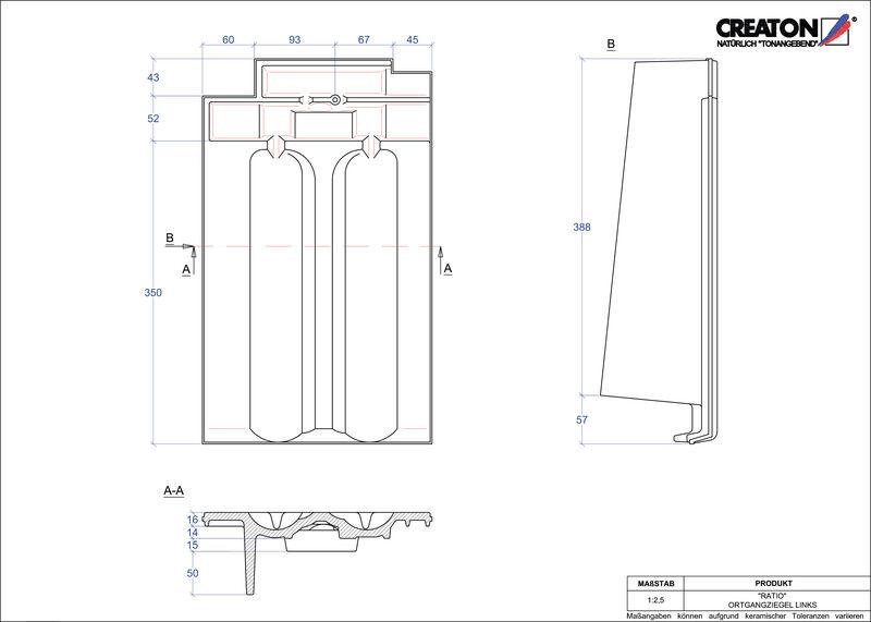 CAD datoteka izdelka RATIO krajnik levi OGL