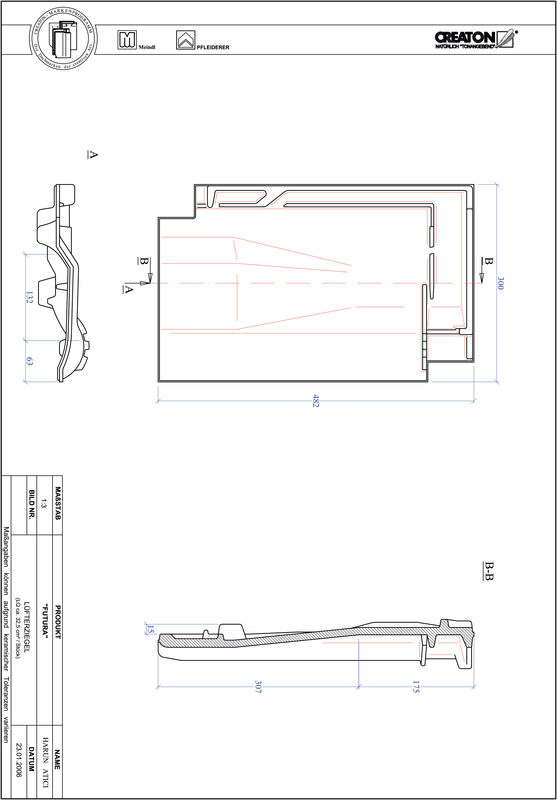 CAD datoteka izdelka FUTURA slemenski zračnik LUEFTZ