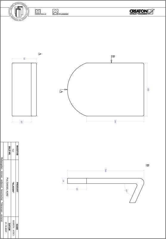 CAD datoteka izdelka KAPSTADT okrogla oblika RUND-PULT-kurz1