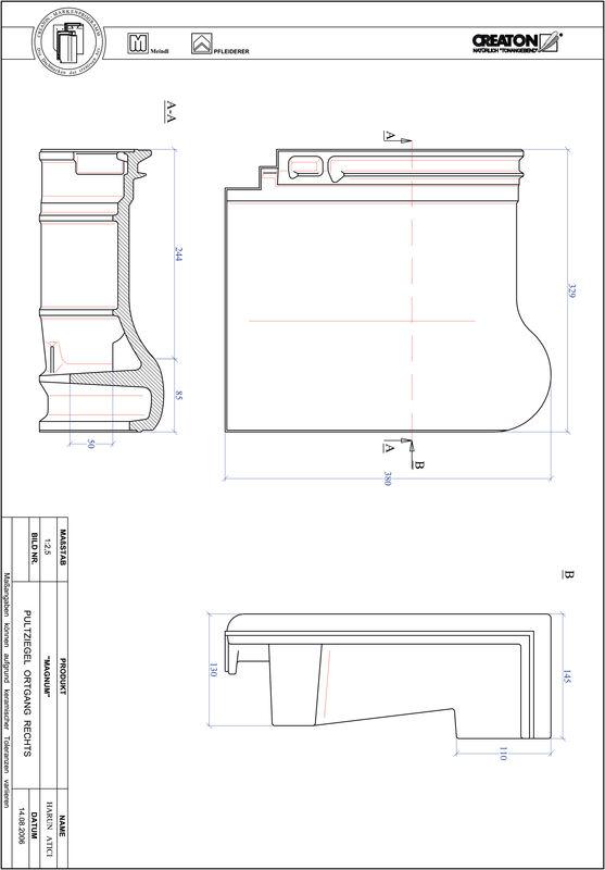 CAD datoteka izdelka MAGNUM strešnik za enokapno streho, krajnik desni PULTOGR