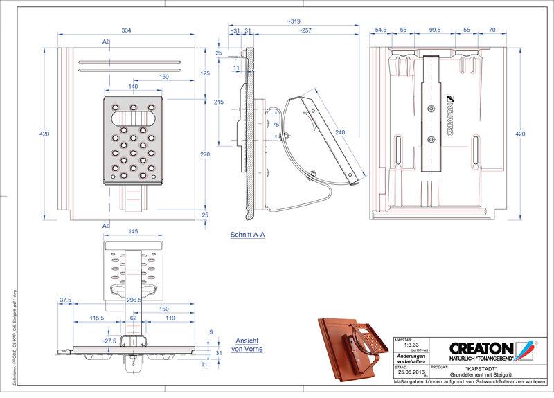 CAD datoteka izdelka KAPSTADT osnovni element Steigtritt