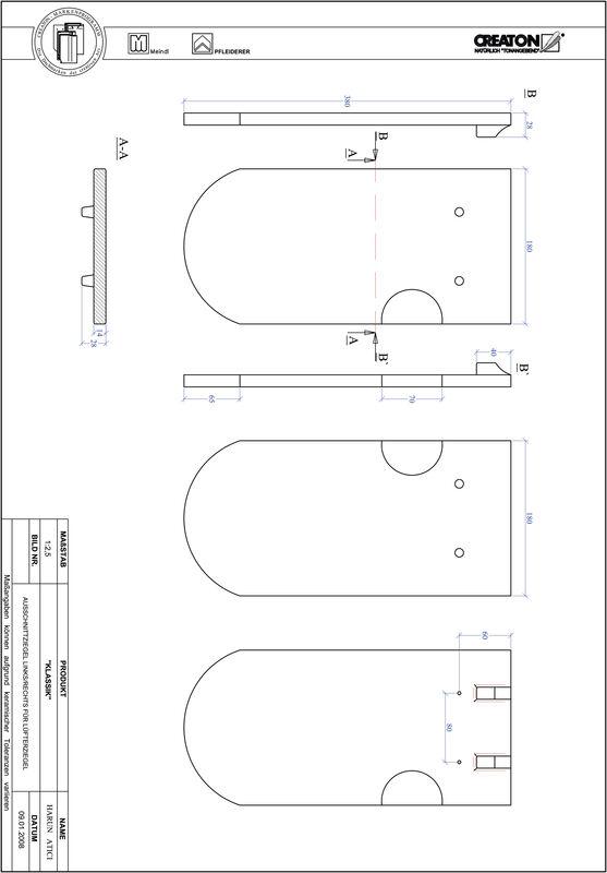 CAD datoteka izdelka KAPSTADT okrogla oblika RUND-AUSSCHNITT-LUEFTZ