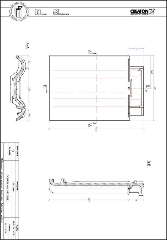 CAD datoteka izdelka FUTURA dvovalovnik DWZ
