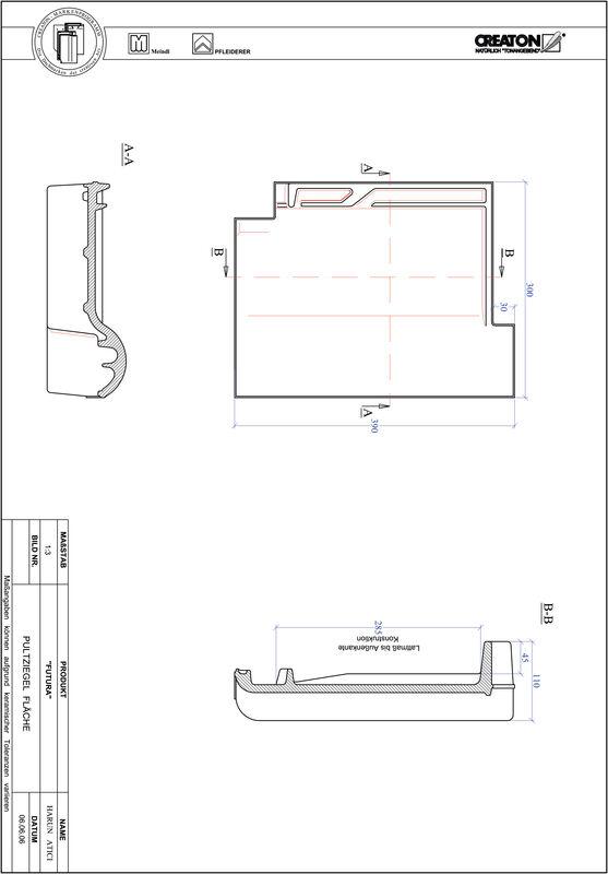 CAD datoteka izdelka FUTURA strešnik za enokapno streho, PULTFLA