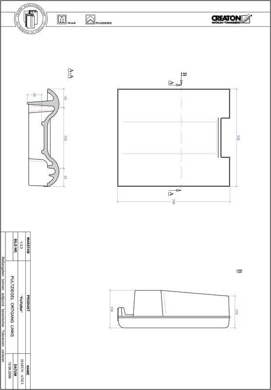 CAD datoteka izdelka FUTURA strešnik za enokapno streho, krajnik levi PULTOGL