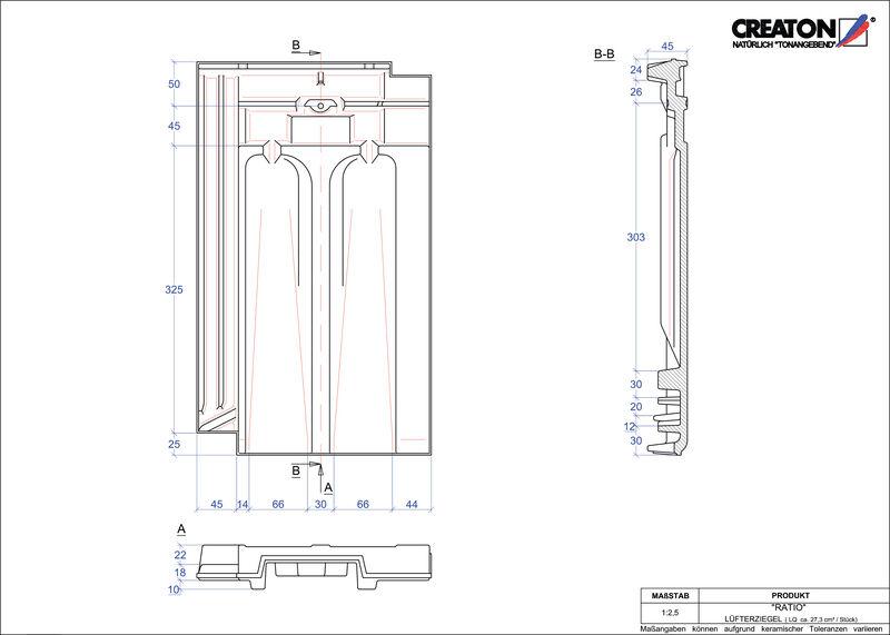 CAD datoteka izdelka RATIO slemenski zračnik LUEFTZ
