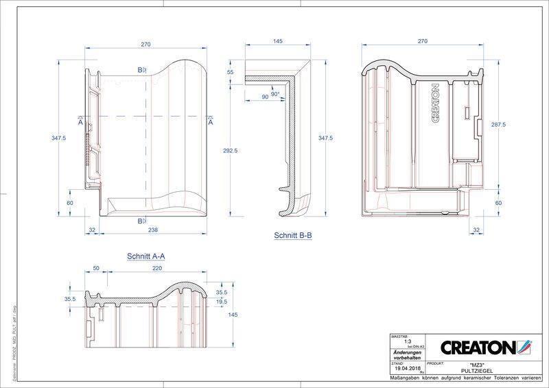 CAD datoteka izdelka MZ3 NEUstrešnik za enokapno streho PULT