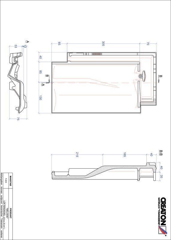 CAD datoteka izdelka MELODIE slemenski zračnik LUEFTZ