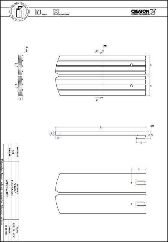 CAD datoteka izdelka PROFIL segmentna oblika BKBI-LH