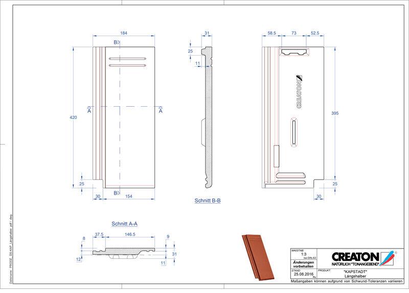 CAD datoteka izdelka KAPSTADT polovička Laengshalber