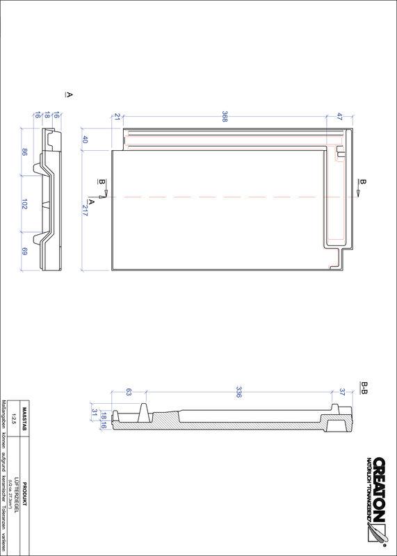 CAD datoteka izdelka DOMINO slemenski zračnik LUEFTZ