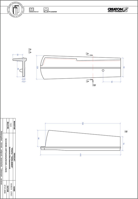 CAD datoteka izdelka PROFIL segmentna oblika KERA-SAECHS-18-CM-OGL