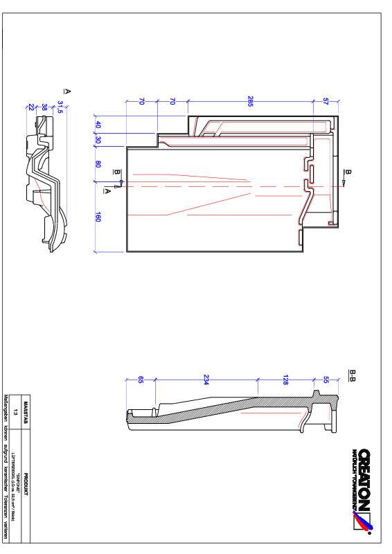 CAD datoteka izdelka SINFONIE slemenski zračnik LUEFTZ